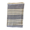 Navy with Cream Stripe, Loose Woven Beach Throw 76x46 - Rustic Red Door Co.