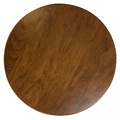 "Wooden Round Lazy Susan, Rustic Cherry Wood, Seely Stain 14"" - Rustic Red Door Co."