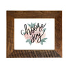 """Choose Joy"" Sign, 8x10 Reclaimed Wood Frame - Rustic Red Door Co."