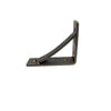 Small Wrought Iron Bracket with Brace, Clear Coat, 4x5 - Rustic Red Door Co.