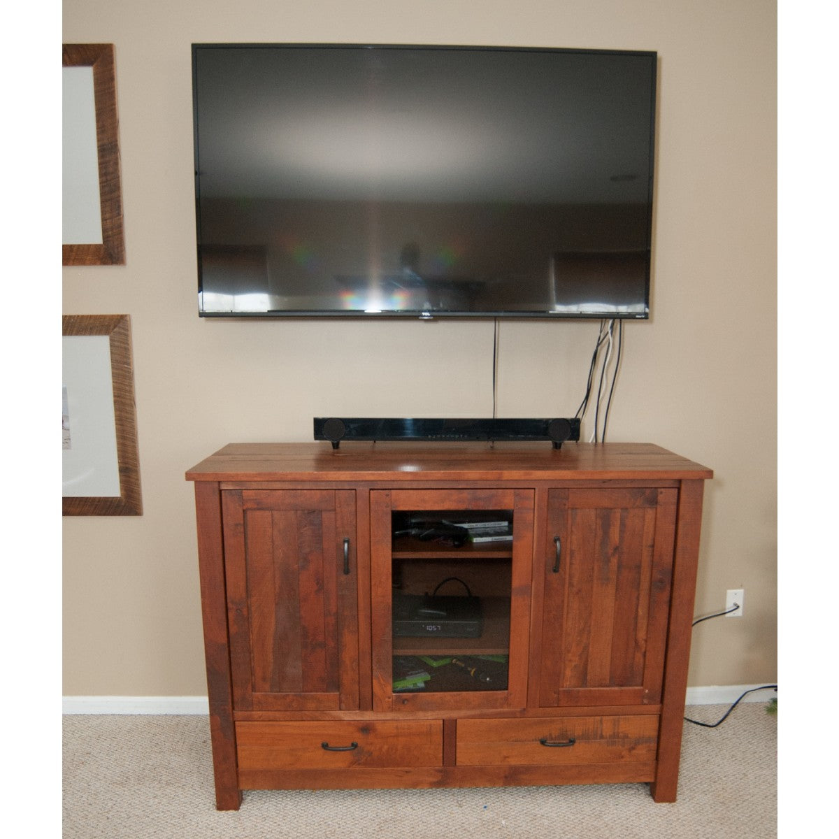 Planked Rustic Entertainment Center Rustic Red Door Co