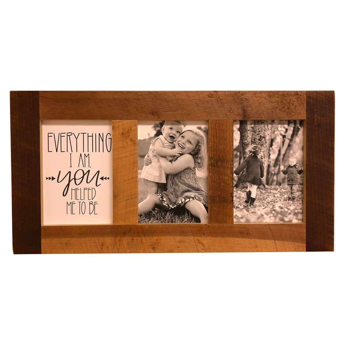Reclaimed Wood Picture Frame, 2 Openings, 20 x 10, \