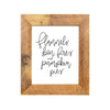 """Flannels, Bon Fires, and Pumpkin Pies"" Sign, 8x10 Reclaimed Wood Frame - Rustic Red Door Co."