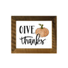 """Give Thanks"" Print, Picture Frame, 11x14 Reclaimed Poplar Wood Frame - Rustic Red Door Co."