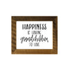 """Happiness is Having Grandchildren to Love"" Sign, 8x10 Reclaimed Wood Frame - Rustic Red Door Co."