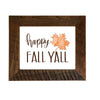 """Happy Fall Y'all"" Sign, 8x10 Reclaimed Wood Frame - Rustic Red Door Co."