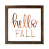 """Hello Fall"" Print, 12x12 Reclaimed Wood Frame - Rustic Red Door Co."