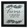 """Home Is Wherever I'm With You"" Print, Picture Frame, 12 x 12 Black Frame - Rustic Red Door Co."