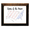 """Home Of The Brave"", Personalized, 8x10 Reclaimed Wood Frame - Rustic Red Door Co."