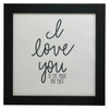 """I Love You To The Moon And Back"" Print, Picture Frame, 12 x 12 Black Frame - Rustic Red Door Co."