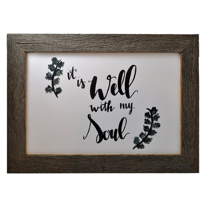 It Is Well With My Soul Framed Print - Rustic Red Door Co.