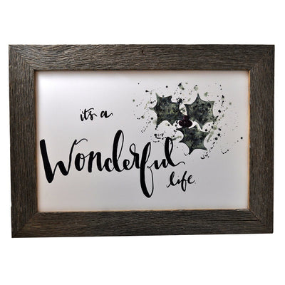 It's A Wonderful Life Framed Print - Rustic Red Door Co.