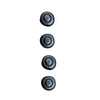 "Refined Rustic Cabinet Knob 1 1/4"", Set of 4, Black Iron, P3002-BI - Rustic Red Door Co."