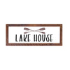 """Lake House"" Sign, Oars, 12x36, Reclaimed Wood Frame - Rustic Red Door Co."