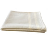 Light Gray Woven Throw Blanket 52x80, Cream Stipple Double Striped - Rustic Red Door Co.