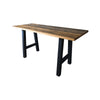Evans Reclaimed Wooden Table, Counter Height, Metal Base - Rustic Red Door Co.