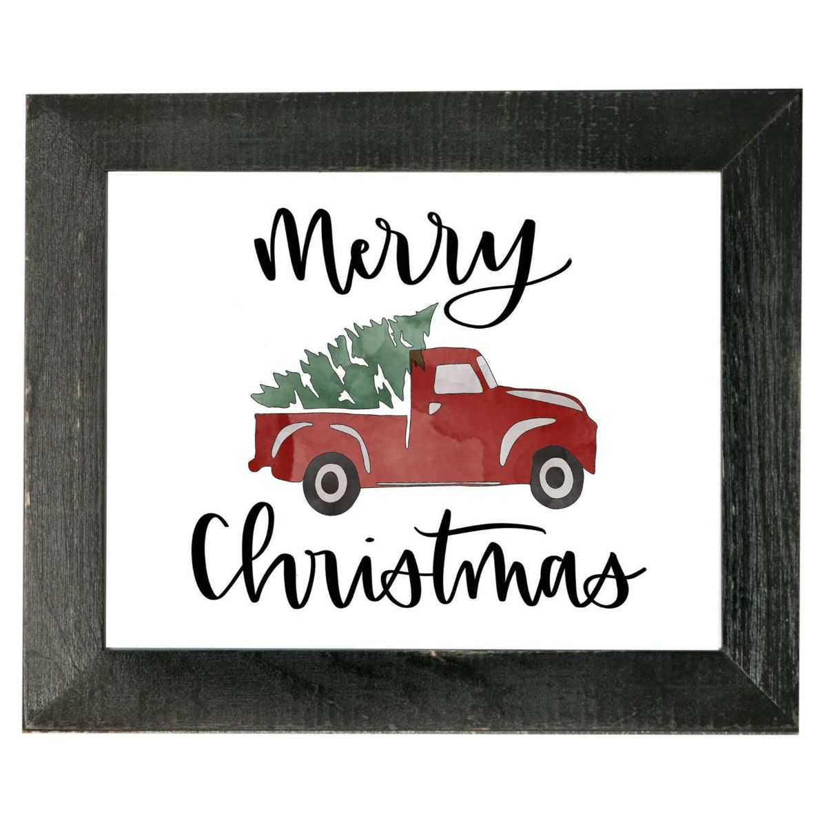 Christmas Red Truck.11x14 Merry Christmas Red Truck Wall Decor
