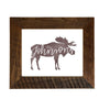 Personalized Moose Sign, 8x10 Reclaimed Wood Frame - Rustic Red Door Co.