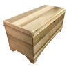 "Waterfall Cedar Chest with Lock, Brown Maple Wood, Natural Stain, 46"" - Rustic Red Door Co."
