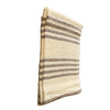 Cream with Brown Stripe, Loose Woven Beach Throw 76x46 - Rustic Red Door Co.