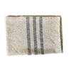 Cream with Navy Stripe Woven Throw Blanket 52x80 , Rugby Stripe Pattern - Rustic Red Door Co.