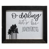 O Darling, Let's Be Adventurers Print, Picture Frame, 8x10 Reclaimed Poplar Wood Frame - Rustic Red Door Co.