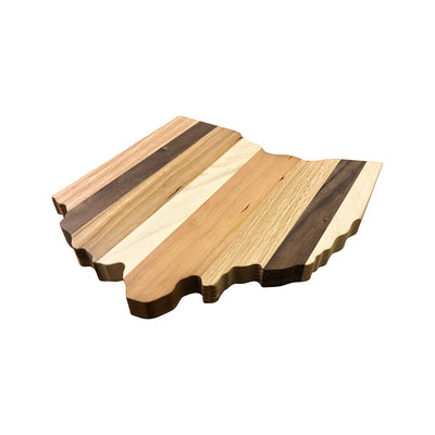 "Wooden Ohio Shaped Cutting Board Cutting Board 10""x 9"" - Rustic Red Door Co."
