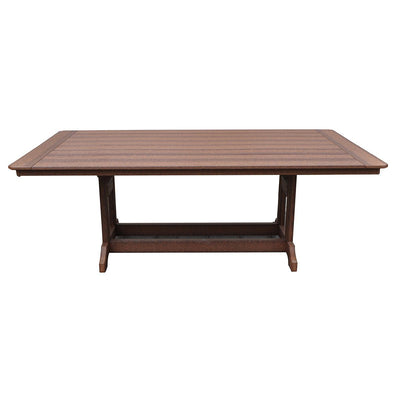Outdoor Rustic Farmhouse Polywood Table, 7 foot,  Antique Mahogany - Rustic Red Door Co.