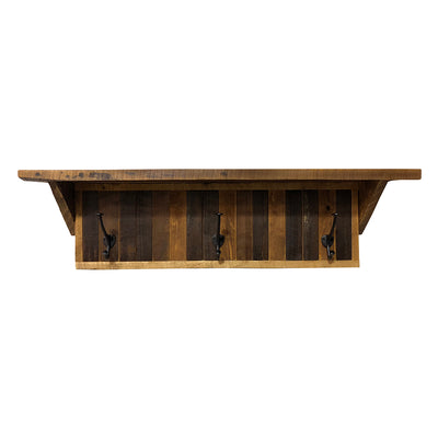Reclaimed Wood Poplar Shelf, Vertical Backboards - Rustic Red Door Co.