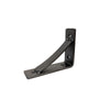 Small Wrought Iron Bracket with Brace, Black, 4x5 - Rustic Red Door Co.