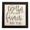 """Together is Our Favorite Place to Be"" Print, Picture Frame, 12 x 12 Black Frame - Rustic Red Door Co."