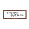 """We Were Together"" Sign, 12x36, Reclaimed Wood Frame - Rustic Red Door Co."