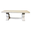 White Trestle Bench, 48 x 17.25 x 14 - Rustic Red Door Co.