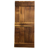 Rough Sawn Pine Barn Door, Midrail Style, Clear Coat, 84 x 36 x 1 - Rustic Red Door Co.