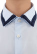 Blue shirt with Fine Trims