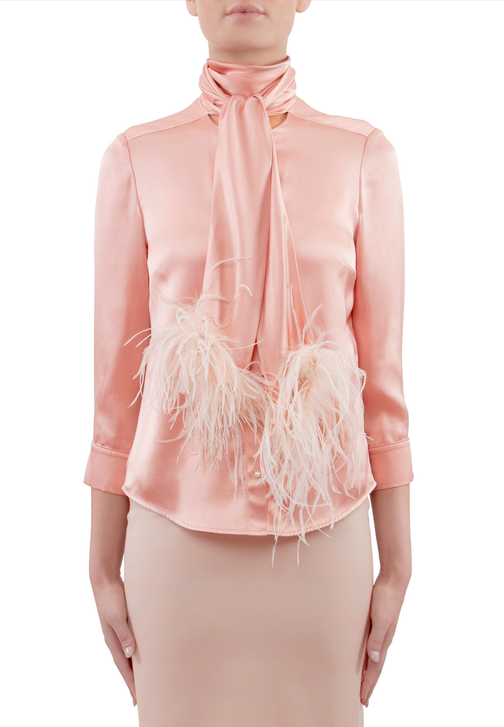 Parisian Romance and Ostrich Feather Silk Top