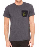 Men's Pocket Tee, Dark Grey/Black