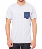 Men's Pocket Tee, Grey/Navy