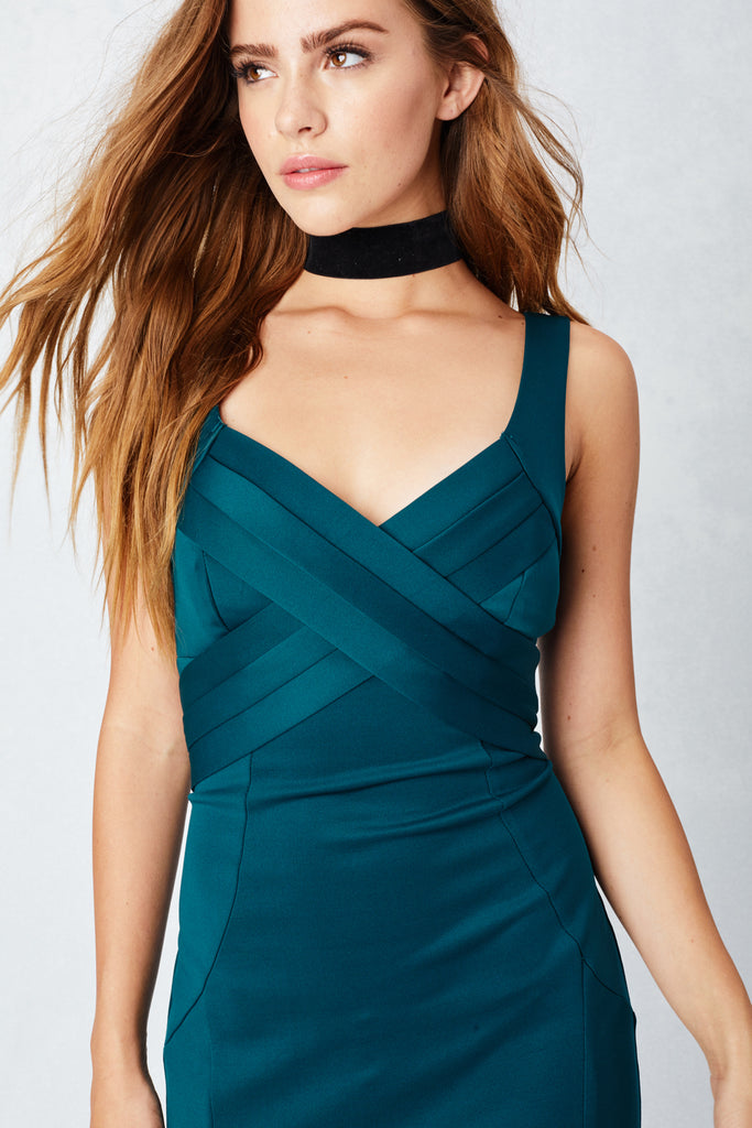 Wrapped Around You Love Gown in Emerald