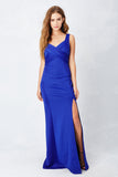 Wrapped Around You Love Gown in Cobalt
