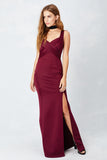 Wrapped Around You Love Gown in Wine