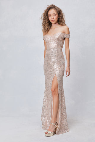 Spotlight Statement Sequin Maxi Dress