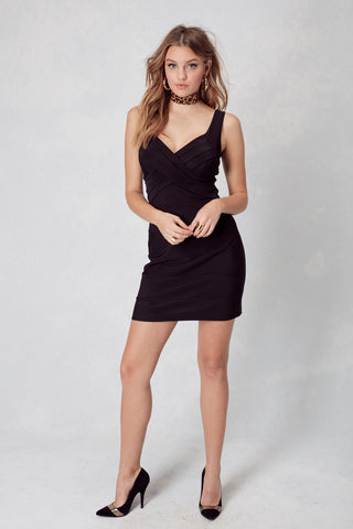Banded Bodycon in Black
