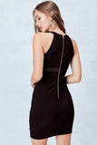 Illusion Bodycon Dress in Black