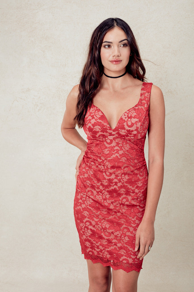 Coconut Grove Hollywood Dress in Red