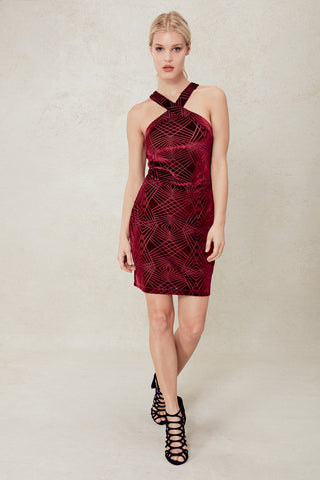 Sill Life Bodycon in Burn-out Velvet
