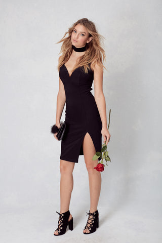 Sweets and Hearts Bodycon in Black