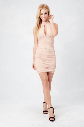 Bryana Holly Sunset Strip Dress in Apricot