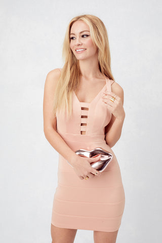 Bryana Holly Love-song Bodycon in Almond