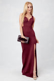 Bryana Holly Oh La La Gown in Wine